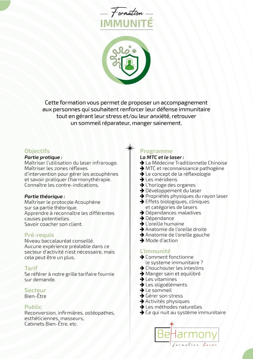 formation laser immunite